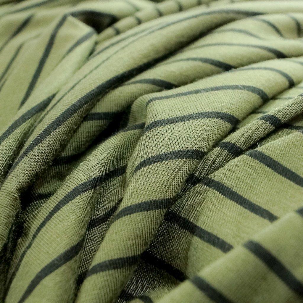 Bamboo Stripe - Seaweed and Black