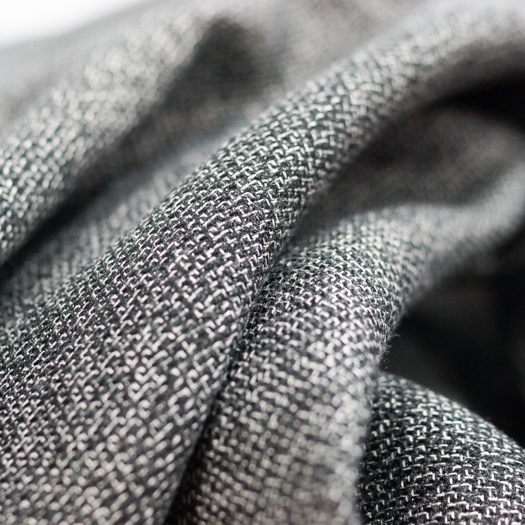 Flannel - Recycled Seawool Thick Highlands Tweed - Black