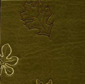 Doe Skin - Olive Embroidered Leaves