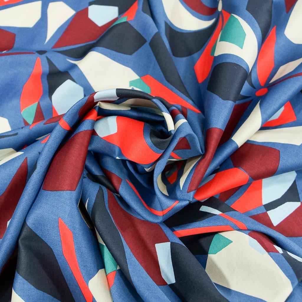 Cotton Poplin - Italian Modern Art Floral