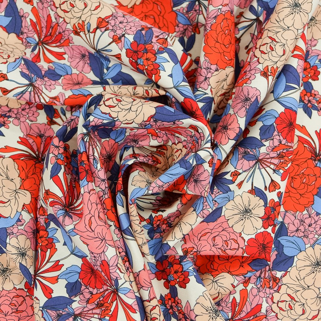 Cotton Poplin - Cheerful Italian Floral