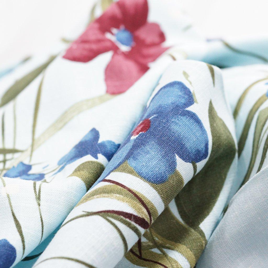Linen - Baby Blue Floral