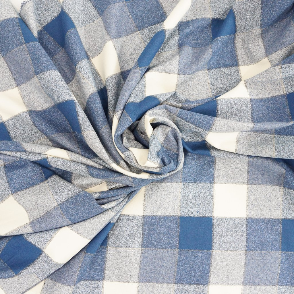 Cotton Flannel - Denim Yarn Dyed Mammoth Flannel