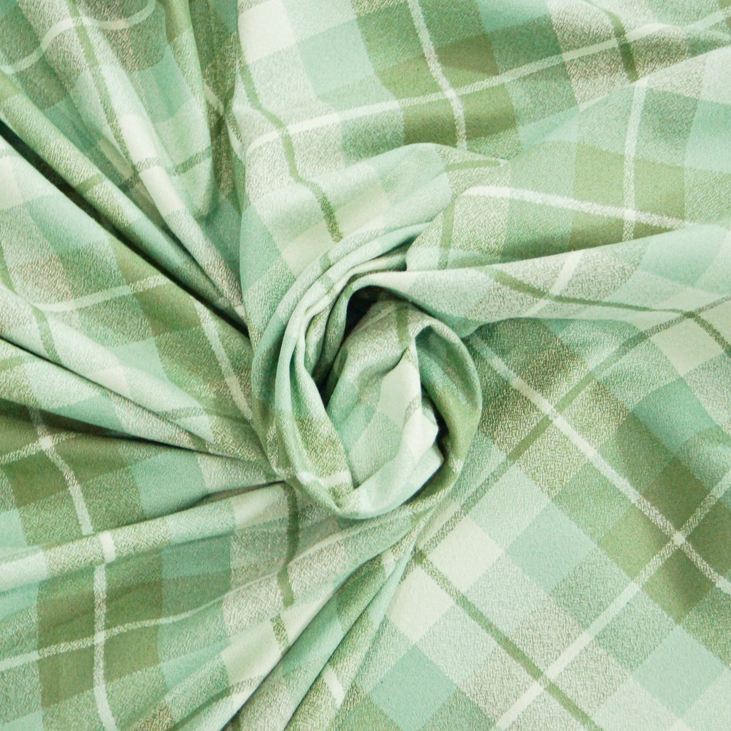 Organic Cotton Flannel - Yarn Dyed Eucalyptus Mammoth Flannel