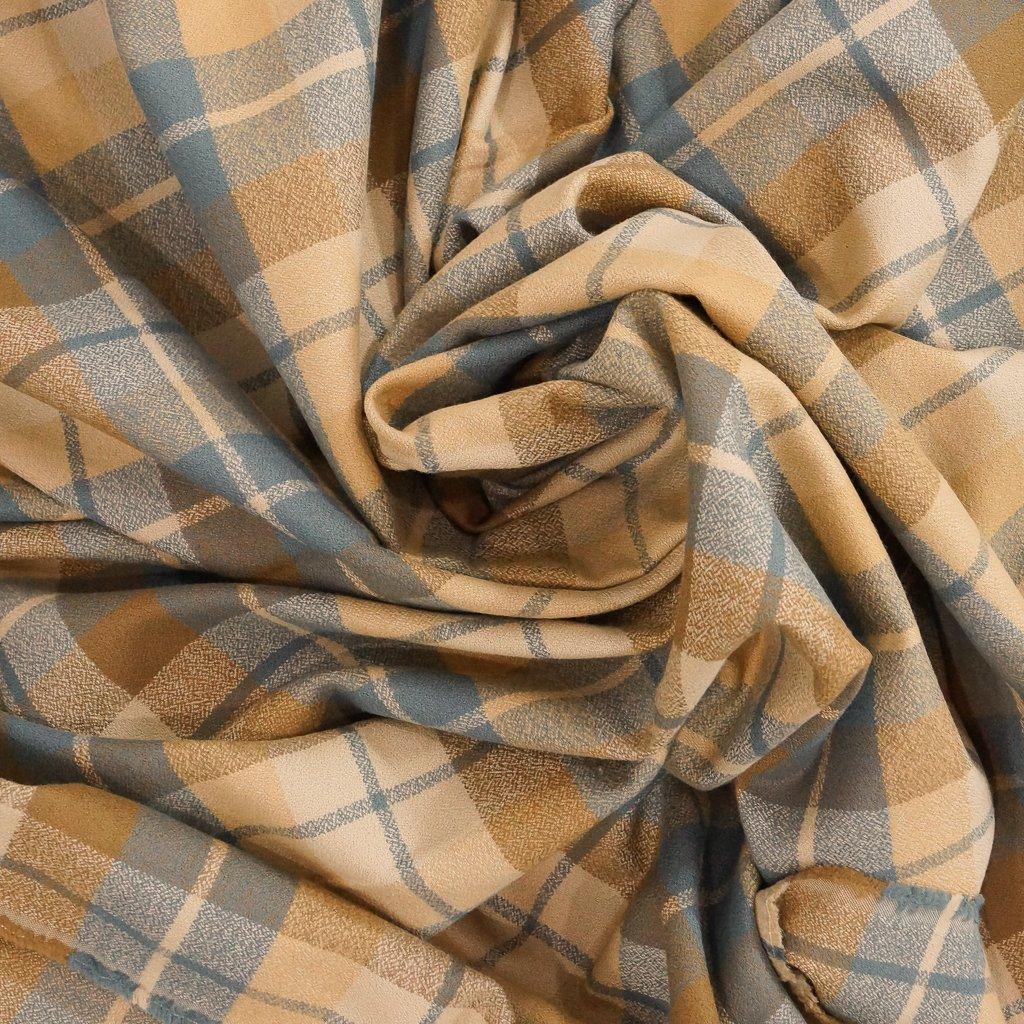 Cotton Flannel - Yarn Dyed Honey Mammoth Flannel