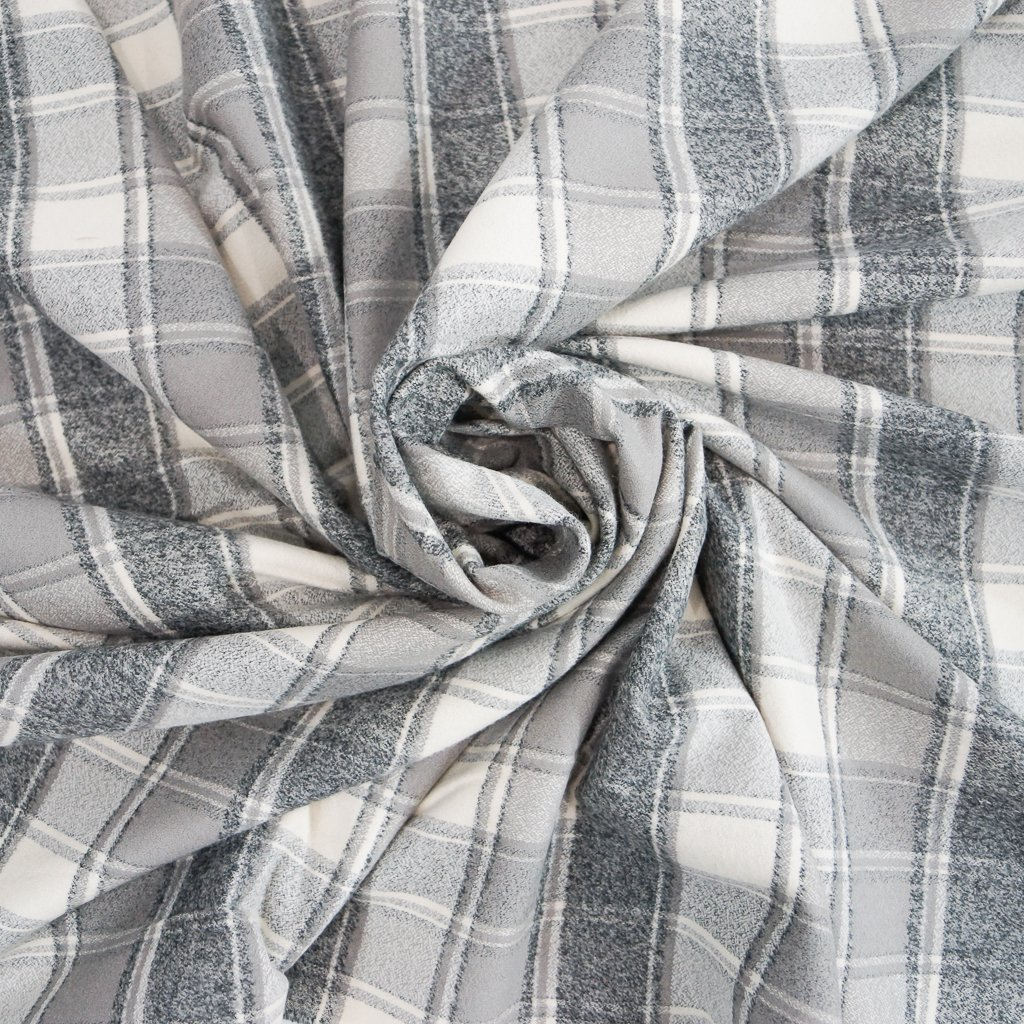 Cotton Flannel - Yarn Dyed Iron Mammoth Flannel