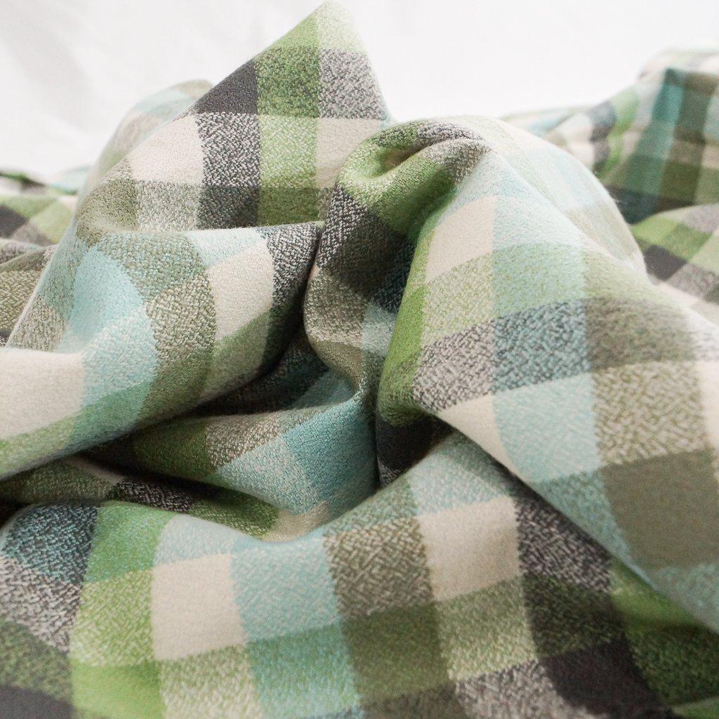Organic Cotton Flannel - Yarn Dyed Seaglass Mammoth Flannel