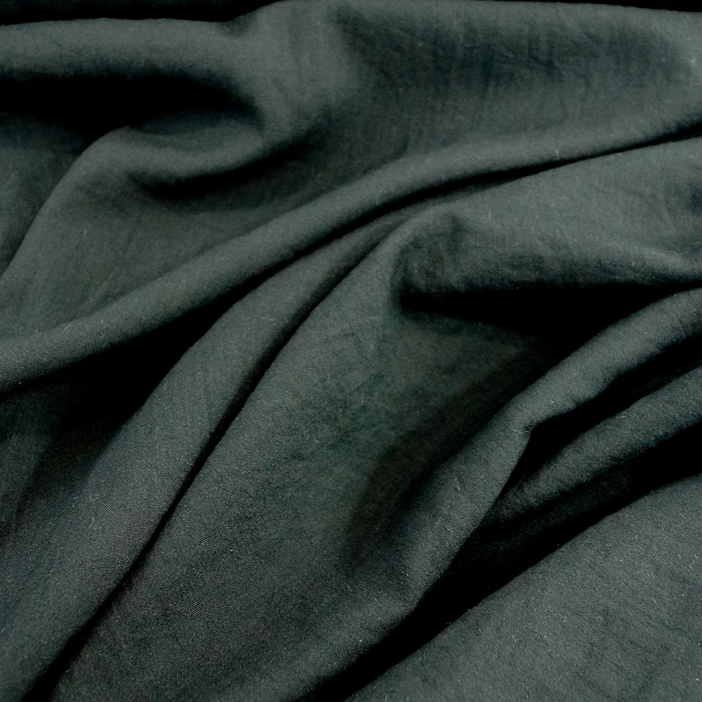 Rayon - Mojito Slub in Black