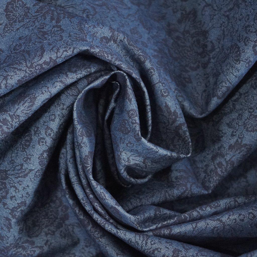 Denim - Dark Indigo with Black Floral