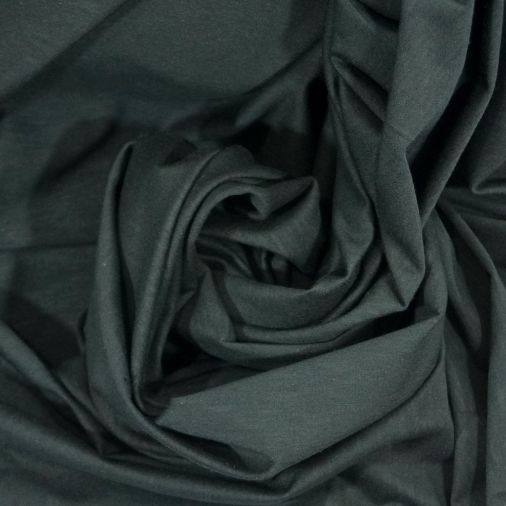 Cotton - Organic Cotton Jersey  Mélange Black