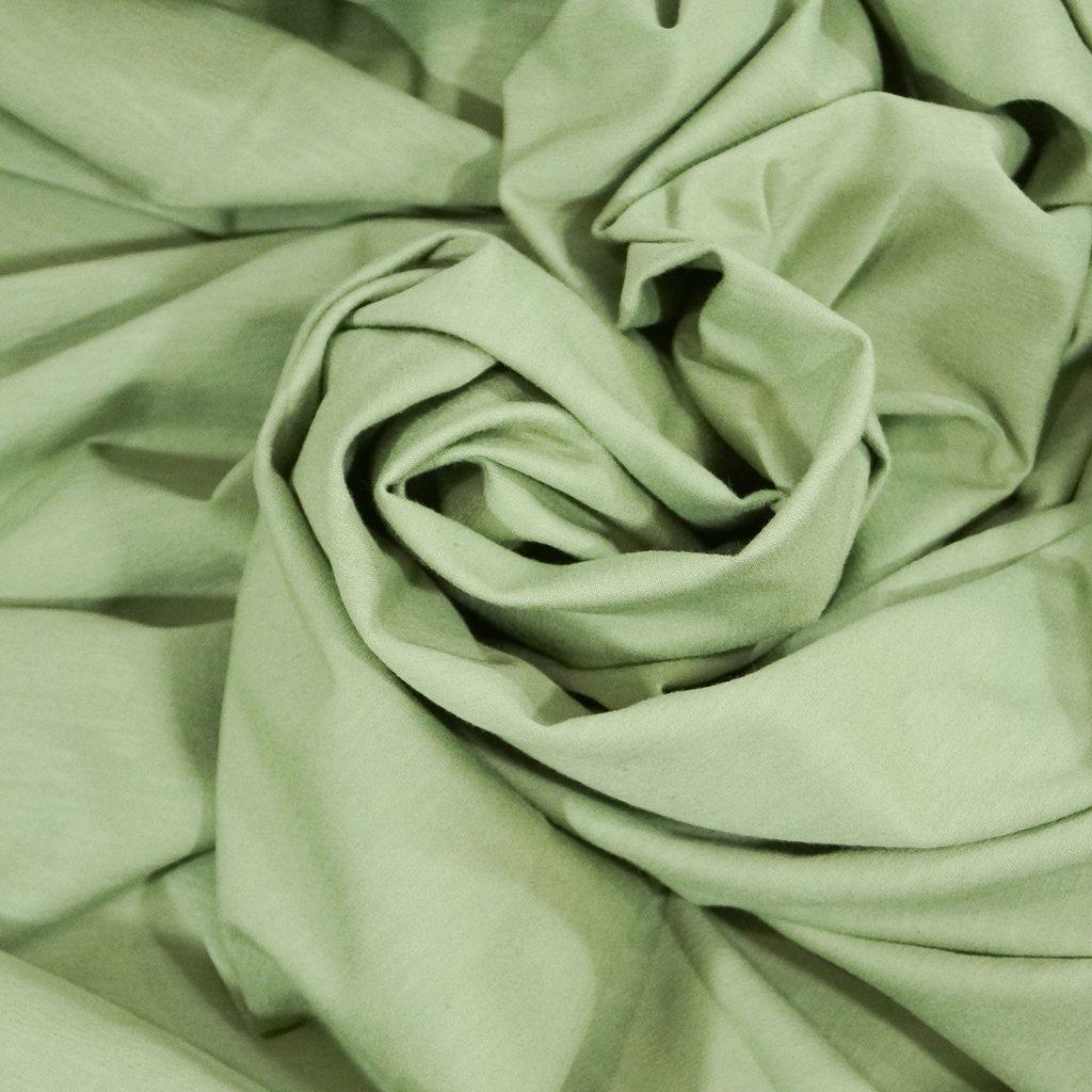 Cotton - Organic Cotton Jersey  Mélange Sage