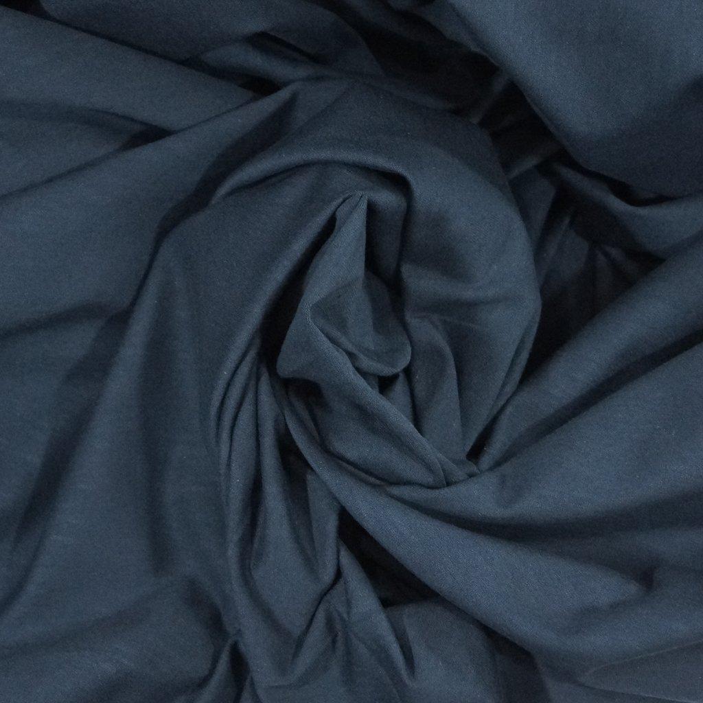 Cotton - Organic Cotton Jersey  Mélange Navy