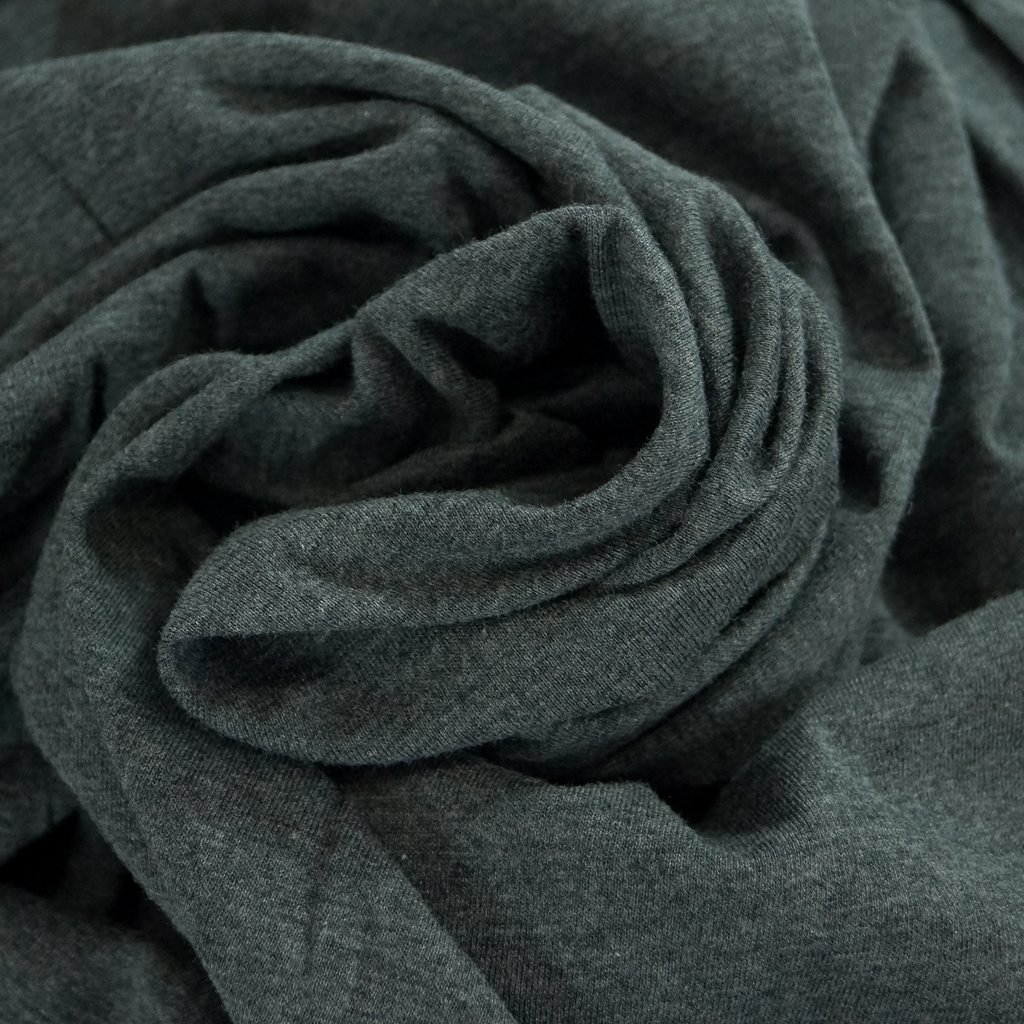 Cotton - Organic Cotton Jersey  Mélange Dark Gray