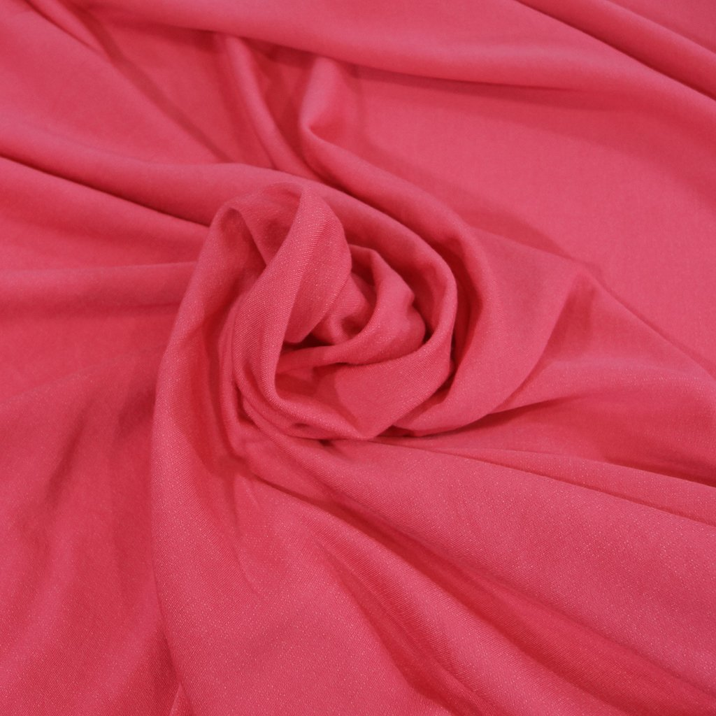 Organic Cotton & Tencel Fleece - Hot Pink
