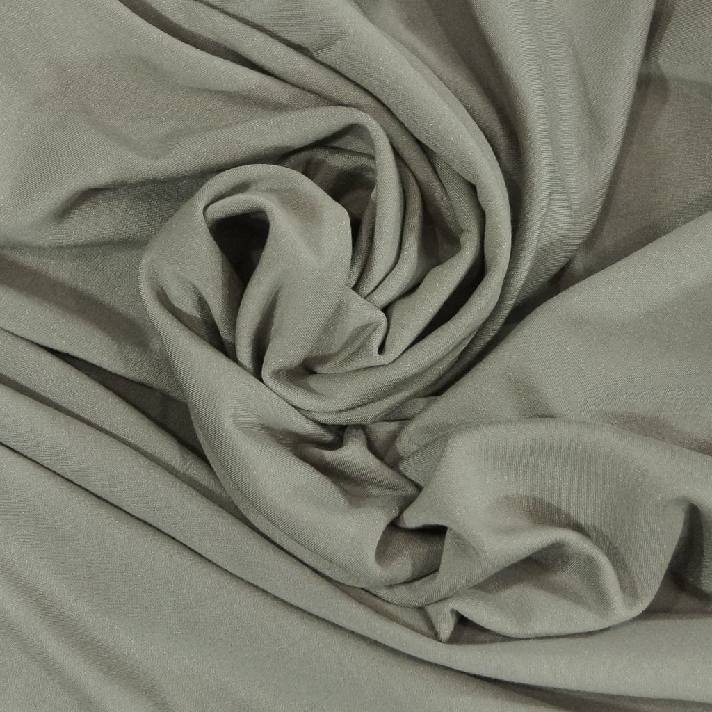 *Four Featured Fabrics: Organic Cotton Fleece - Gray with Tencel & Spandex