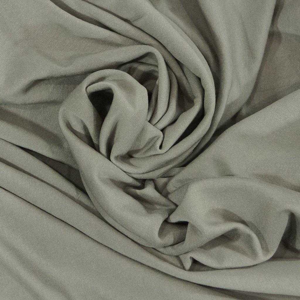 Organic Cotton Fleece - Gray with Tencel & Spandex