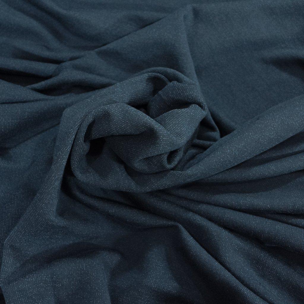 Organic Cotton Fleece - Indigo with Tencel & Spandex
