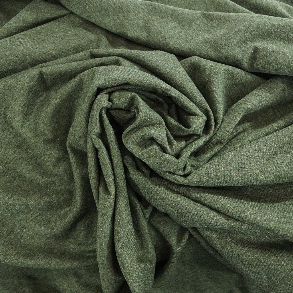 Cotton - Organic Cotton Jersey  Mélange Moss