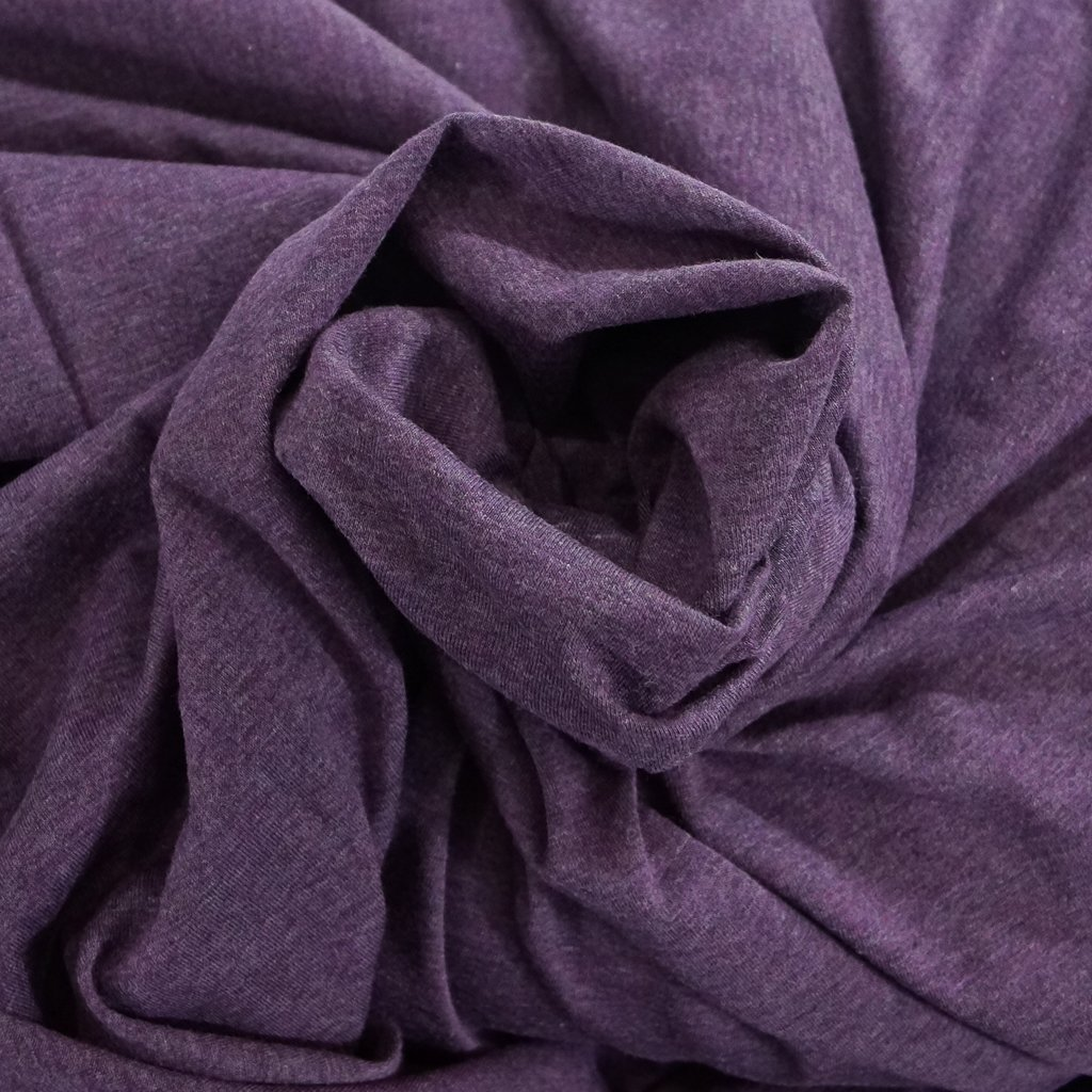 Cotton - Organic Cotton Jersey  Mélange Purple