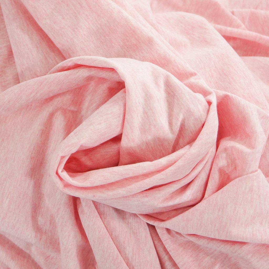 Cotton - Organic Cotton Jersey  Mélange Soft Pink