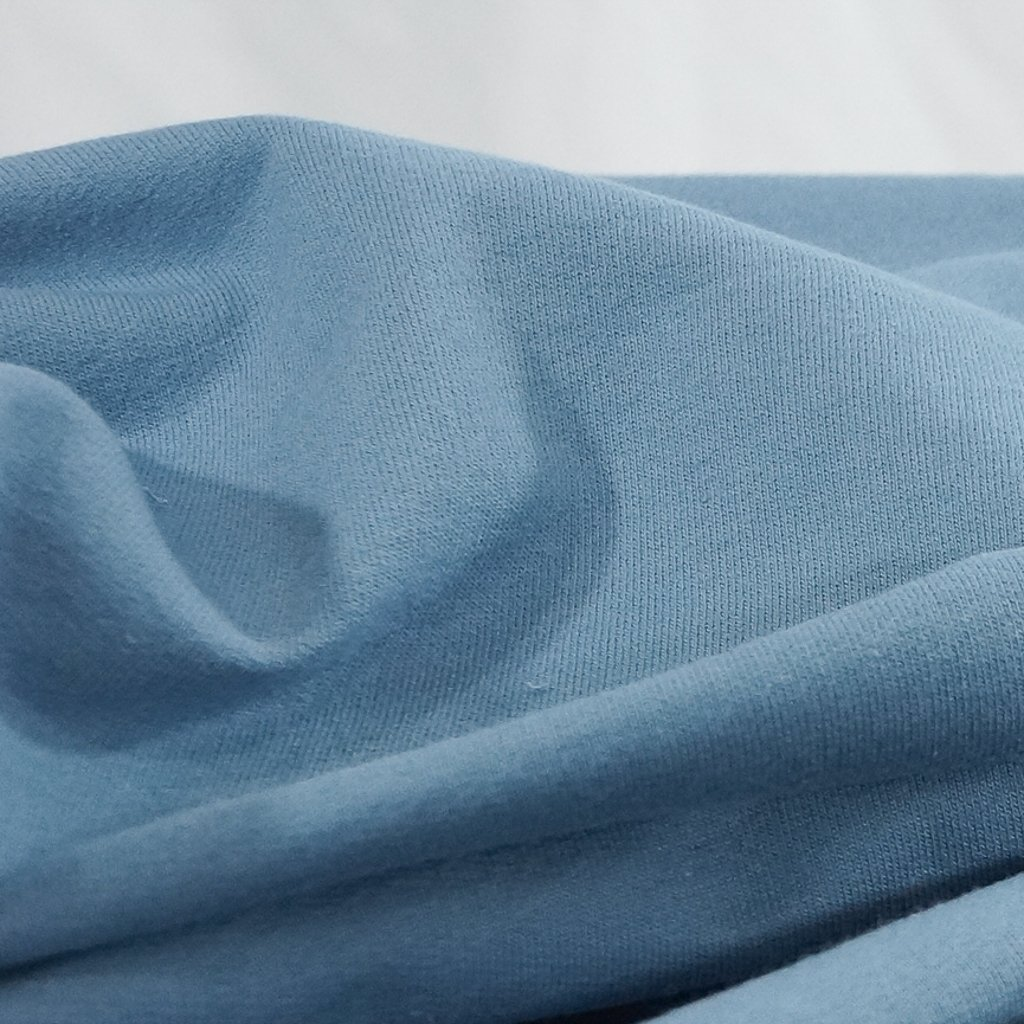 Organic Cotton - Steel Blue French Terry