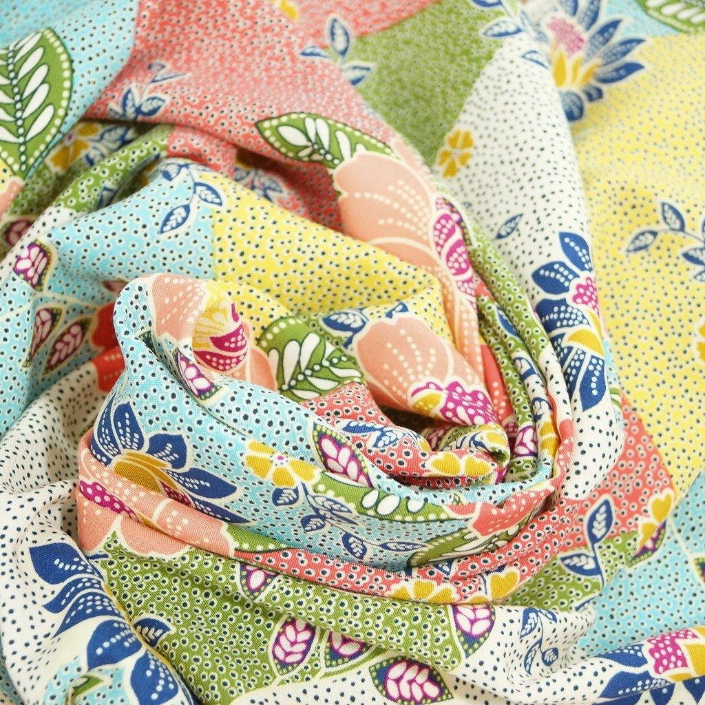 Rayon - Floral Garden Patchwork