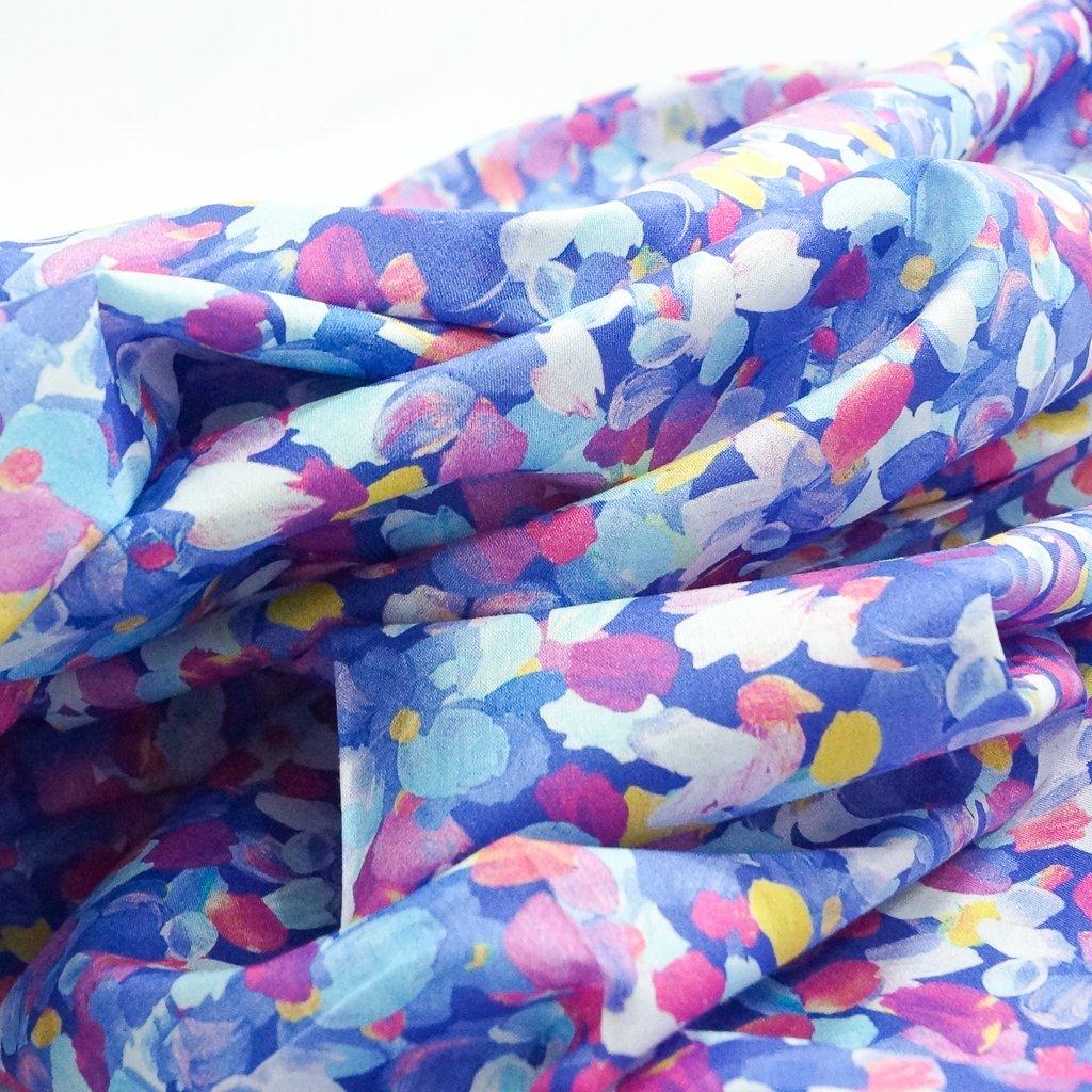 Cotton Lawn - Periwinkle Petals
