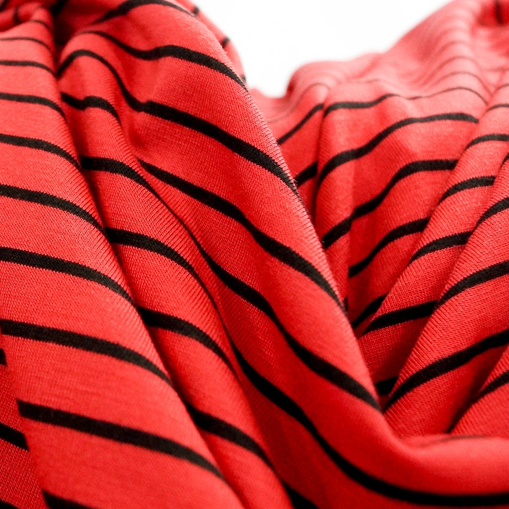 Bamboo Stripe - Red and Black