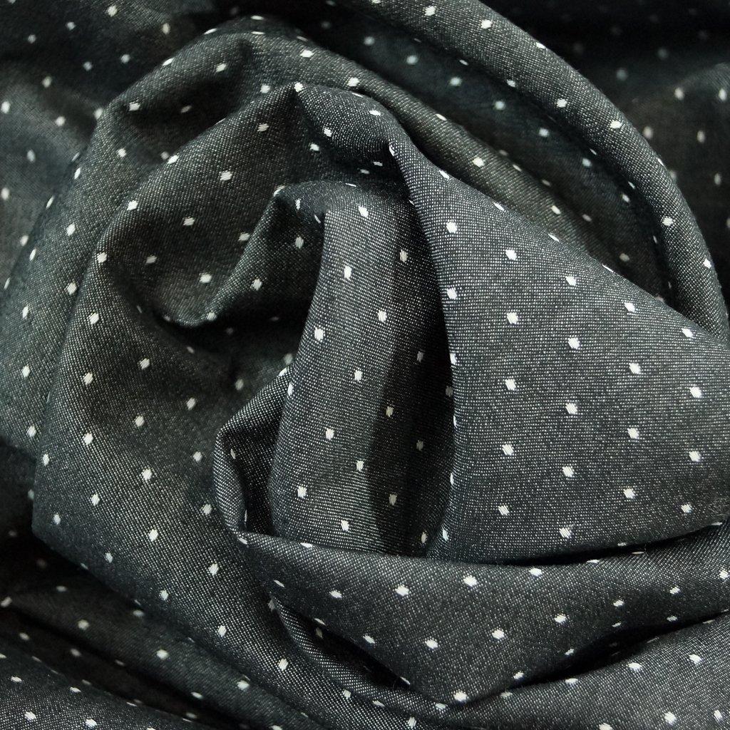 Chambray - Black Dobby Dots  - Robert Kaufman