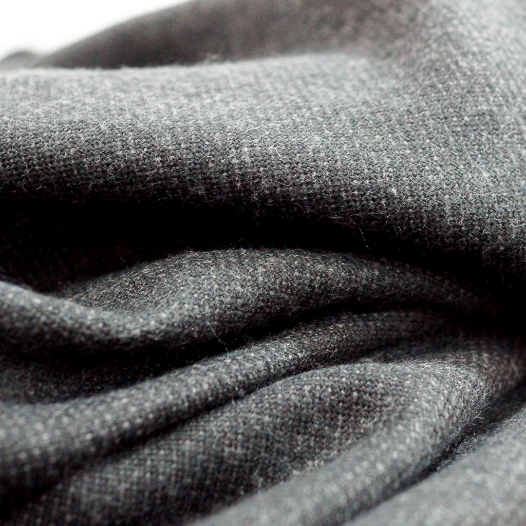 Melton Flannel - Recycled Seawool Black