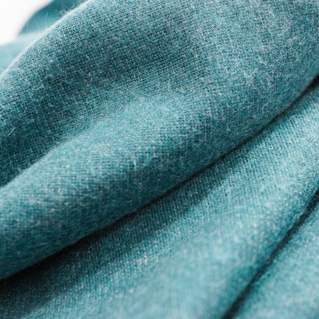 Melton Flannel - Recycled Seawool Teal