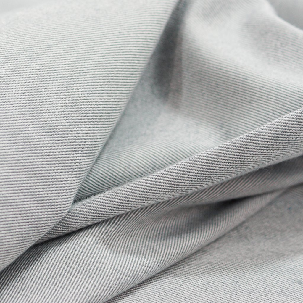 Twill - Recycled Seawool Flannel in Gray
