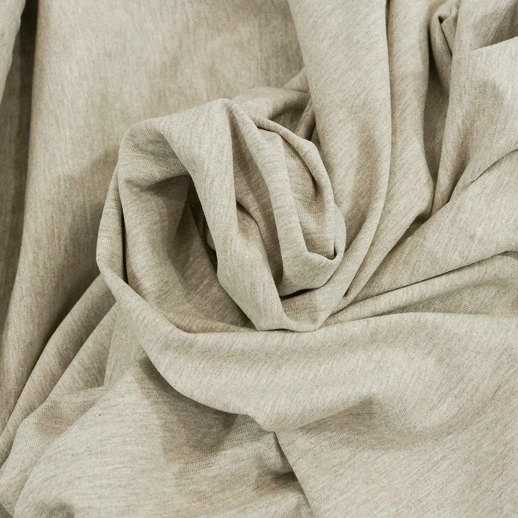 Cotton Knit - Tan Melange OEKO-TEX Cert