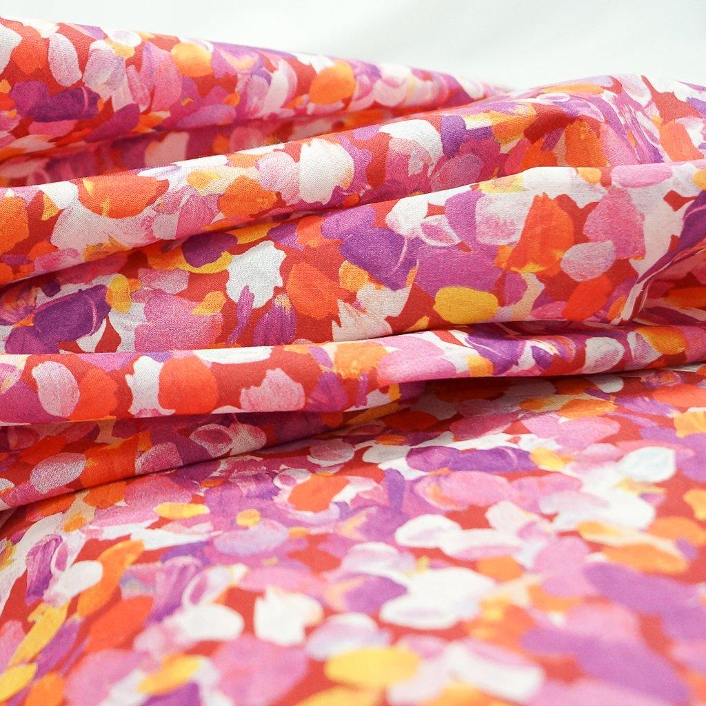 Cotton Lawn - Summer Painterly Petals
