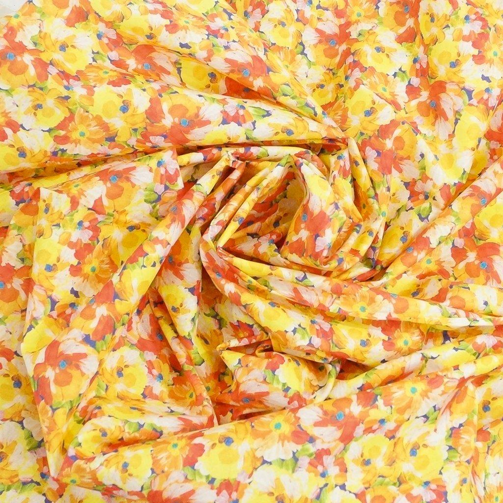 Cotton Lawn - Citrus Sunshine Poppies