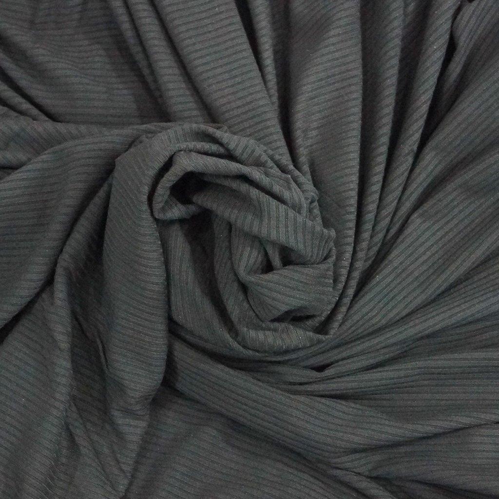 Bamboo Knit Ribbing - Black
