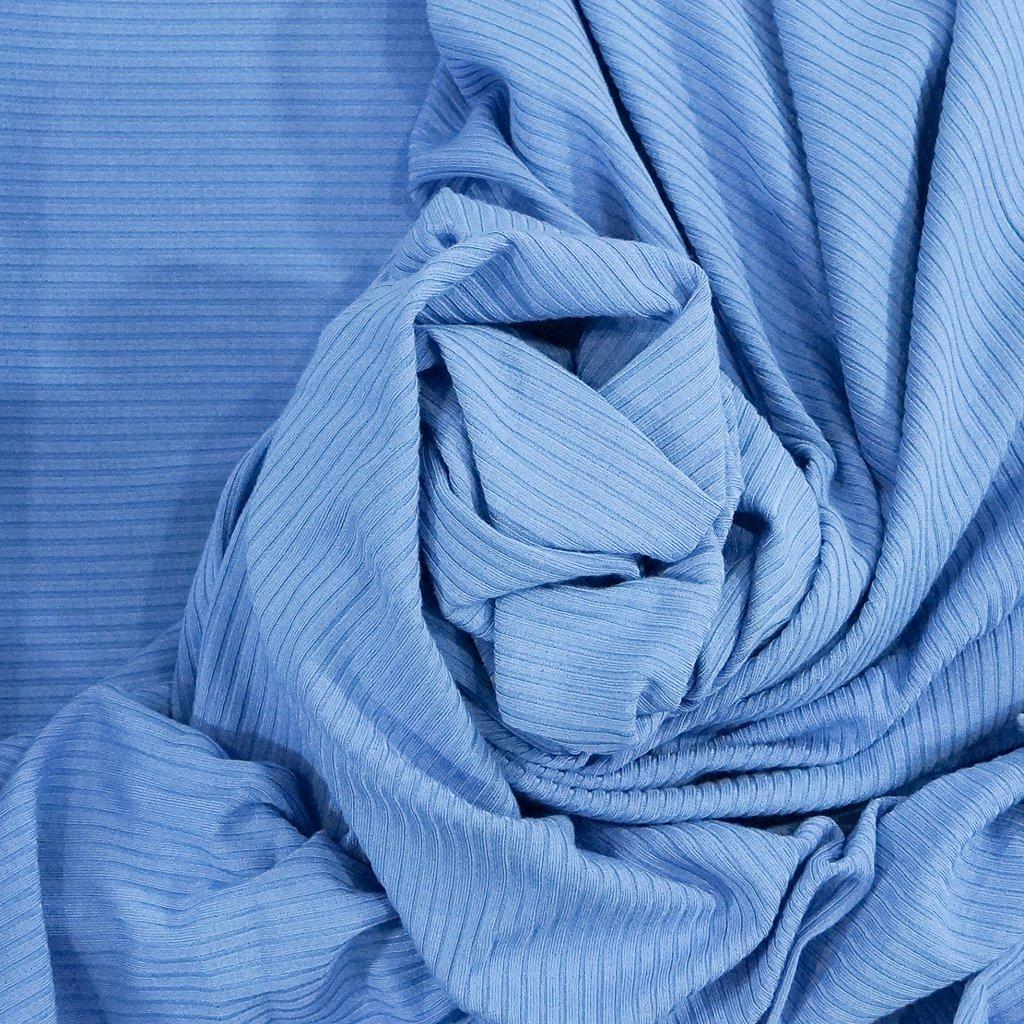 Bamboo Knit Ribbing - Summer Blue