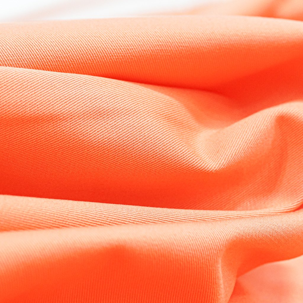 Cotton Twill - Coral Brushed Twill