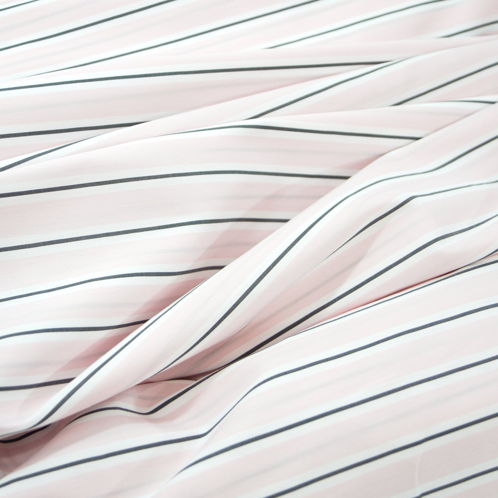 Cotton Voile - Pink, Charcoal, & White Italian voile shirting by Milly