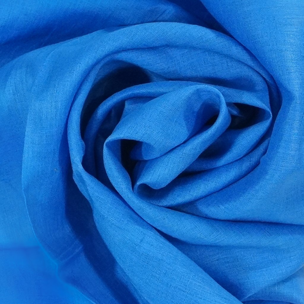 *Four Featured Fabrics: Elie Tahari Linen - Wedgewood Blue