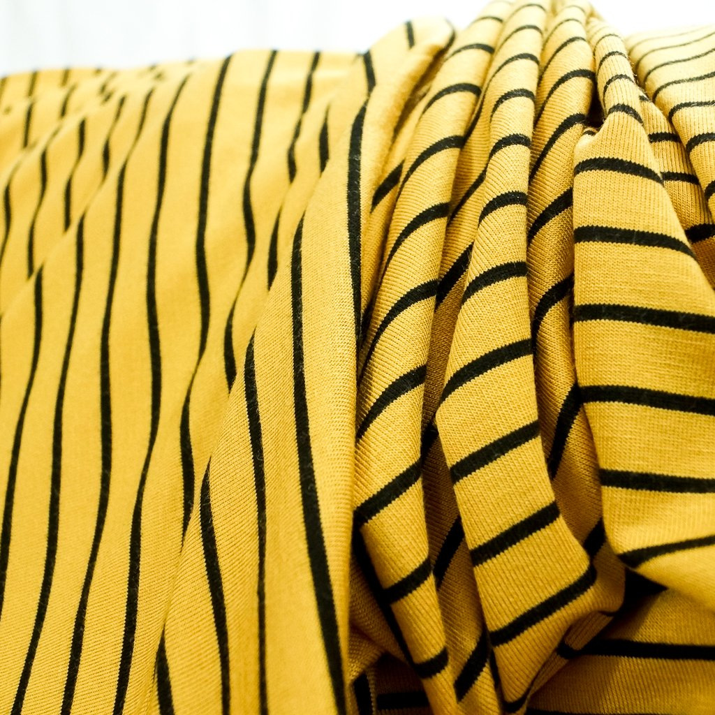 Bamboo Stripe - Mustard and Black