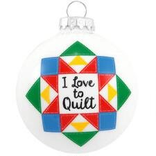 I Love to Quilt Ornament