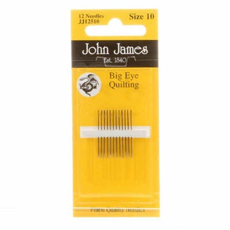 John James Big Eye Quilting Size 10 - 12 Pack