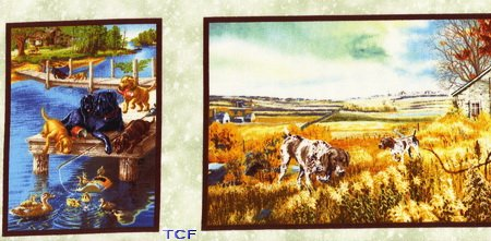 Country Canines Panel - 24 Inches (2 Repeats)