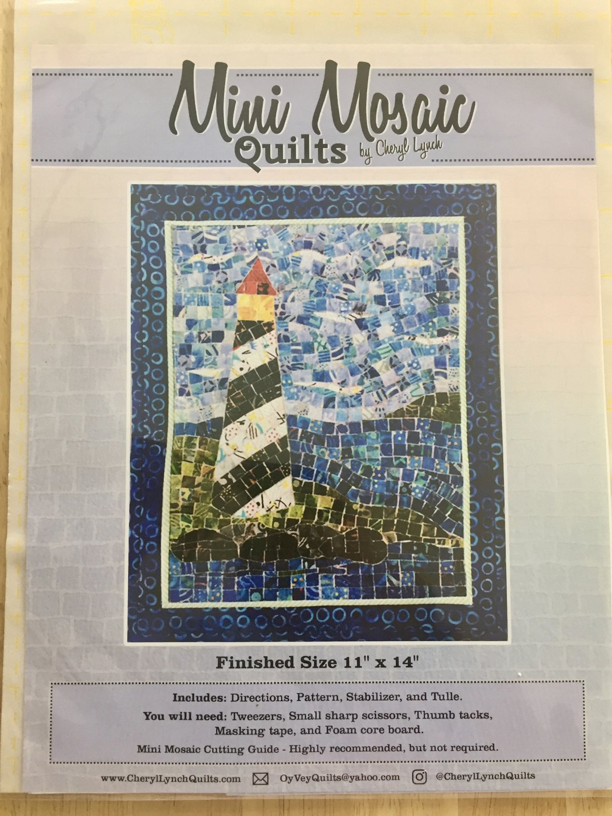 Mini Mosaic Quilts Lighthouse
