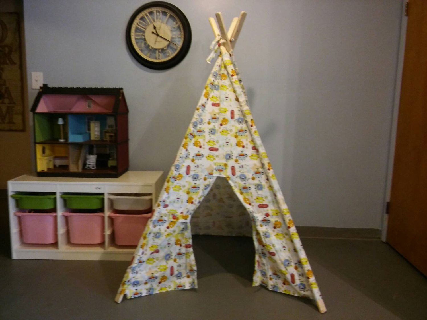 Play Teepee Sporty Monsters Kids Tent Ready to Ship