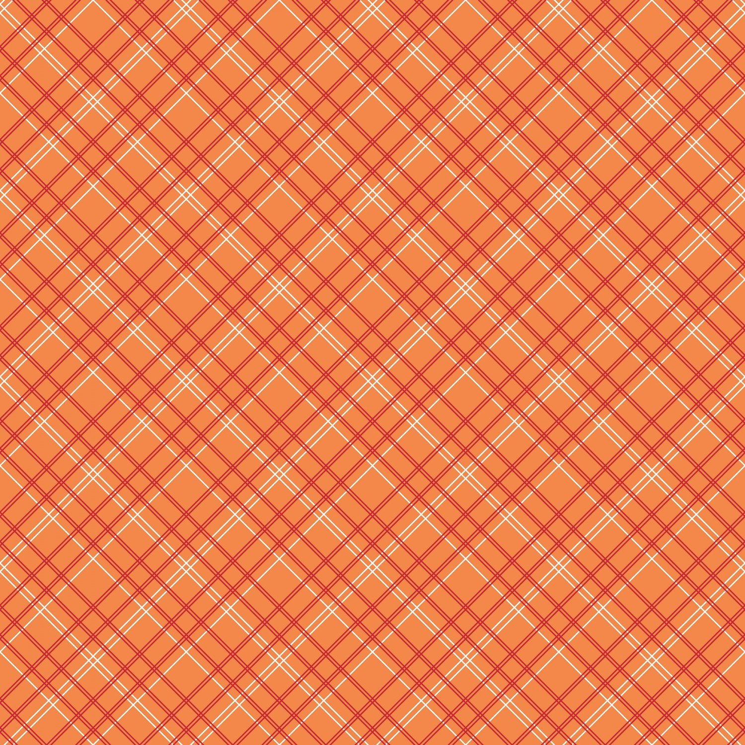 Backings Plaid Orange 107/108in Wide Back
