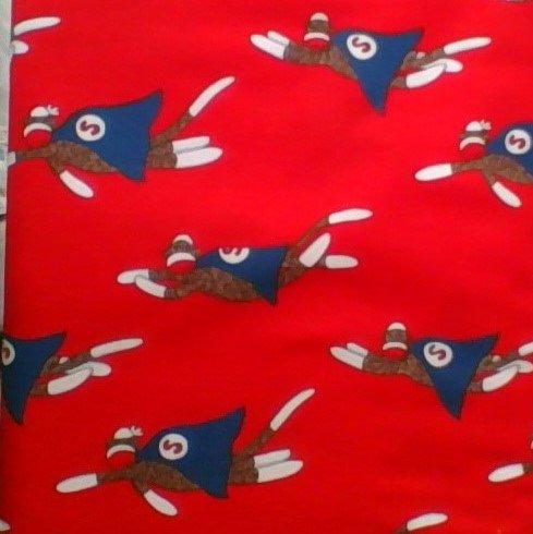 Monkey Tales Red Sock Monkey Fabric