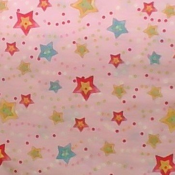 Cuddly Baby - Light Pink  Multi Color Stars