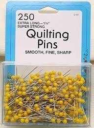250 Extra long Quilting Pins